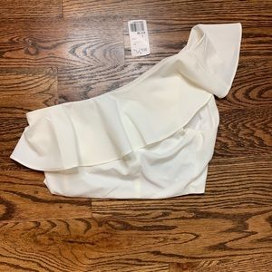 NWT Forever21 One Shoulder Crop Top